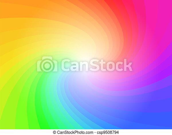 彩虹, 摘要, 鮮艷, 背景圖形 - csp9508794