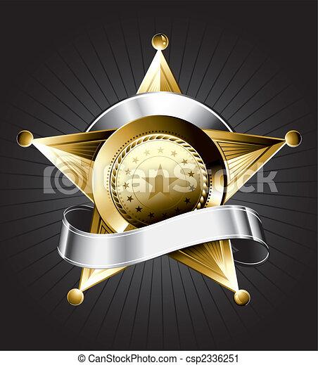 徽章, 設計, 郡長 - csp2336251