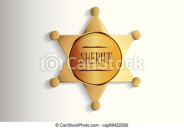 徽章, 設計, 郡長 - csp69422292