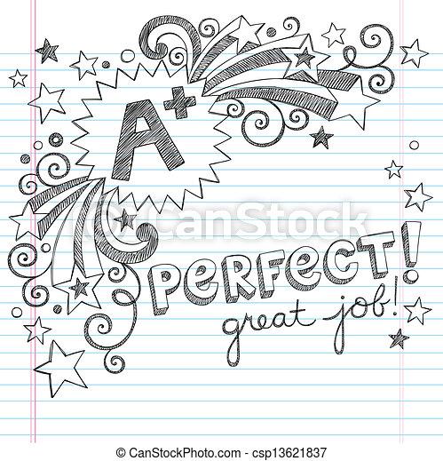 心不在焉地亂寫亂畫, 偉大, 加上, 學校學生 - csp13621837