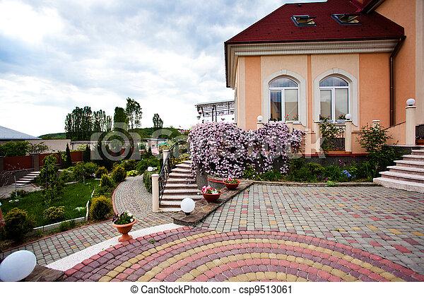 房子, 美麗, 院子 - csp9513061