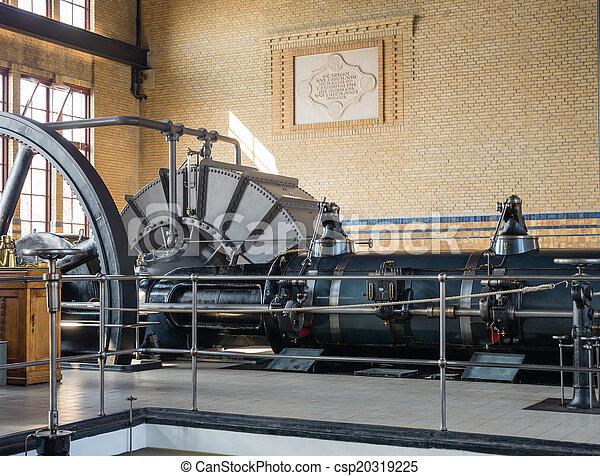 房間, 抽, 機器, 具有歷史意義, 車站, 蒸汽 - csp20319225