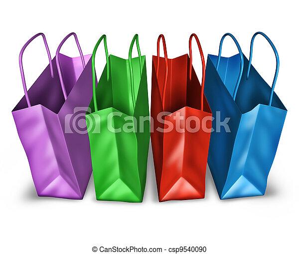 打開頂, 購物袋, 看法 - csp9540090