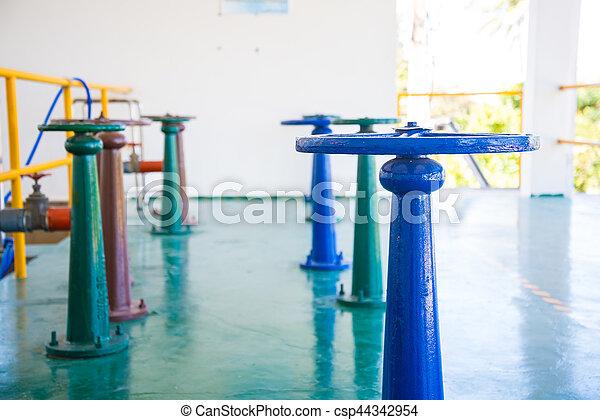 控制, 水, 閥門, 門 - csp44342954