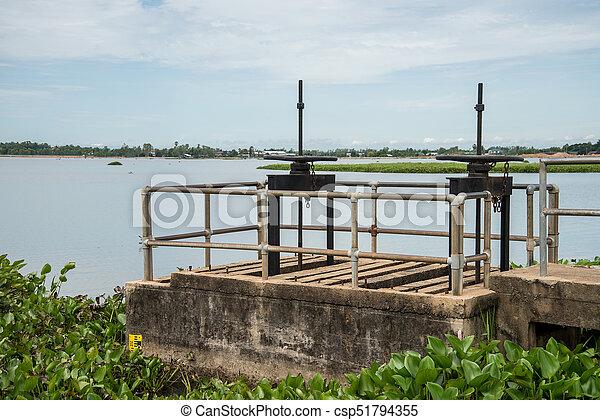 控制, 水, 閥門, 門 - csp51794355
