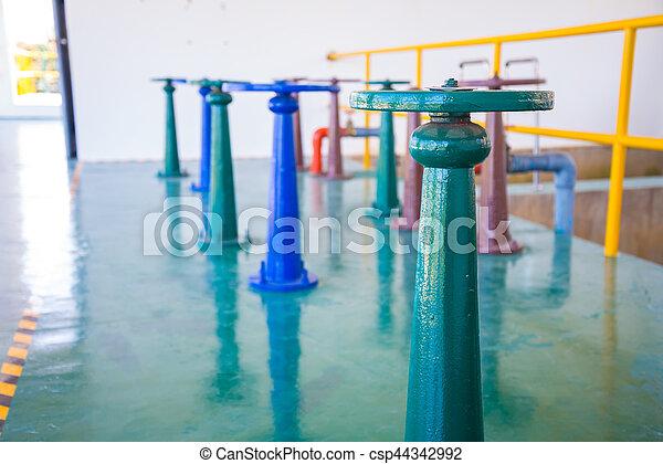 控制, 水, 閥門, 門 - csp44342992