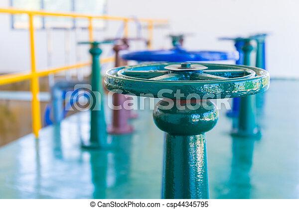 控制, 水, 閥門, 門 - csp44345795