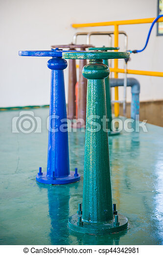 控制, 水, 閥門, 門 - csp44342981