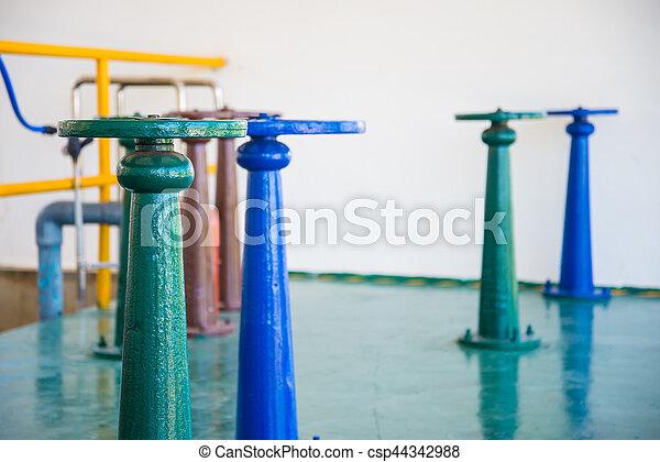 控制, 水, 閥門, 門 - csp44342988
