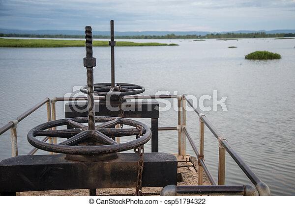 控制, 水, 閥門, 門 - csp51794322