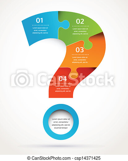 摘要, 問號, infographics, 設計, 背景 - csp14371425