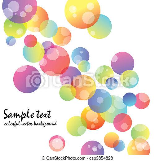 摘要, 牆紙, 鮮艷, 環繞 - csp3854828