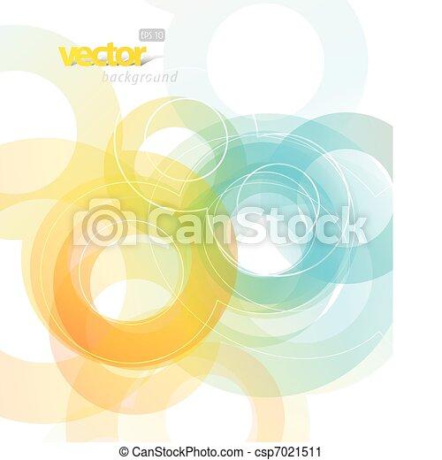 摘要, circles., 插圖 - csp7021511