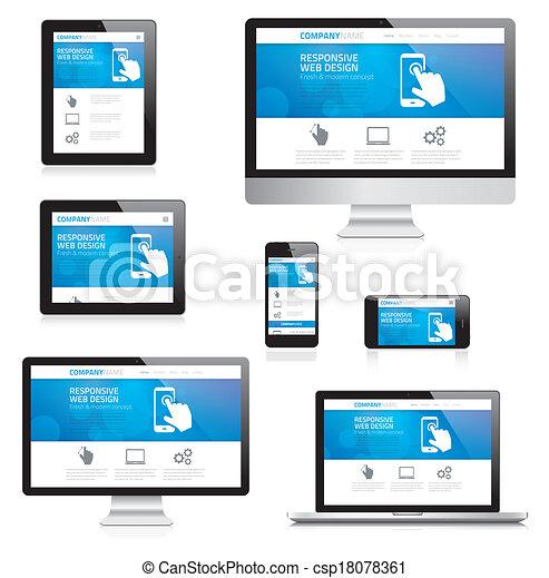 敏感, 网設計, 現代, comput - csp18078361