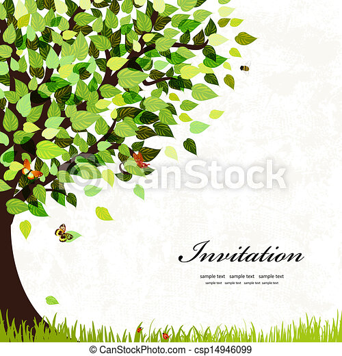 明信片, 樹, 設計 - csp14946099