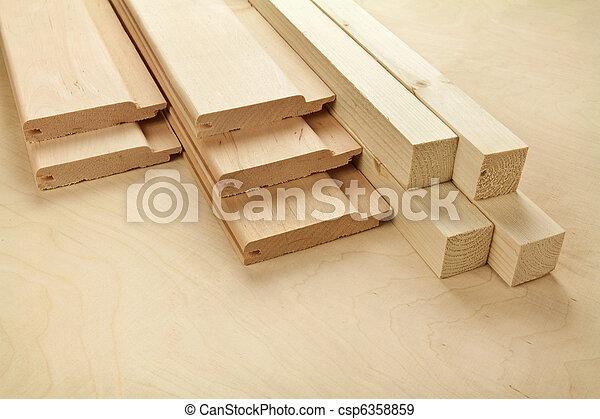 木頭, 板條 - csp6358859