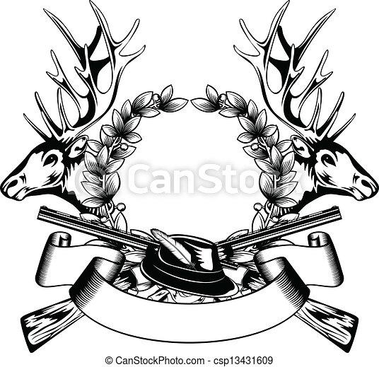 框架, 帽子, 打獵 - csp13431609