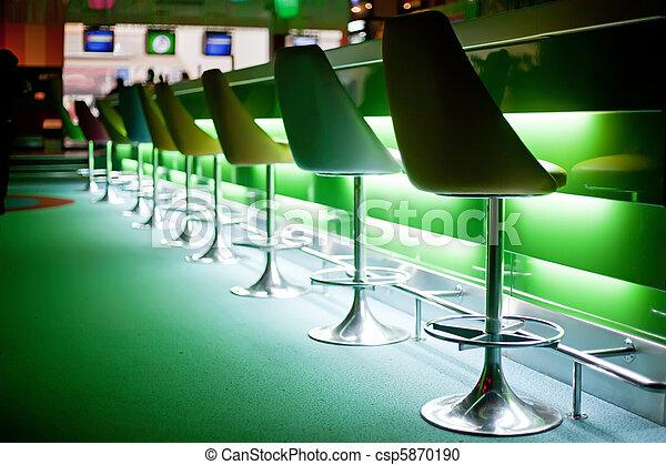 椅子, 光, 酒吧, 綠色 - csp5870190
