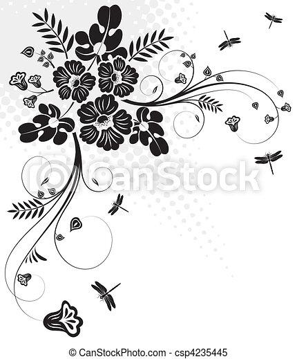 植物群的設計 - csp4235445