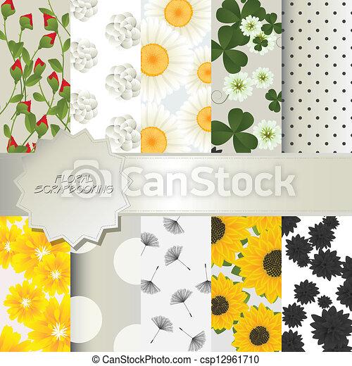 植物, scrapbooking - csp12961710