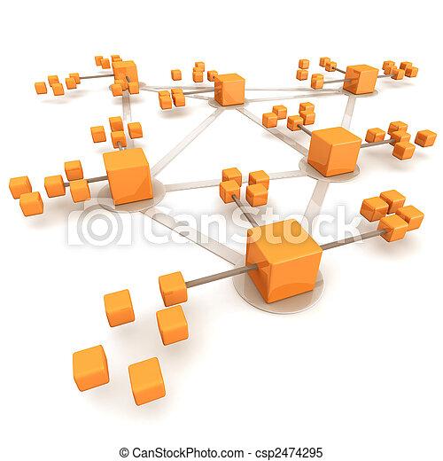 概念, 网絡, 事務 - csp2474295