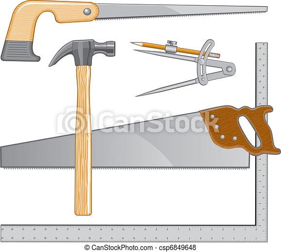 標識語, 木匠, 工具 - csp6849648