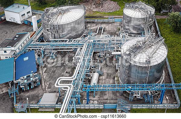 气体, 工業, 空中, 油, 看法 - csp11613660