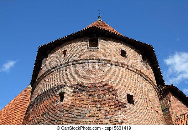 波蘭, malbork - csp15631419