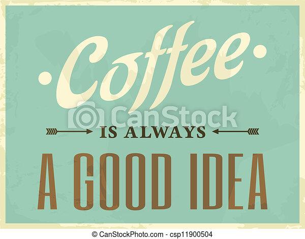 海報, 風格, 咖啡, retro - csp11900504