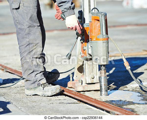 混凝土, 工業, 操練 - csp22936144