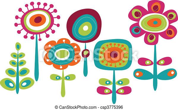 漂亮, 花, 鮮艷 - csp3775396