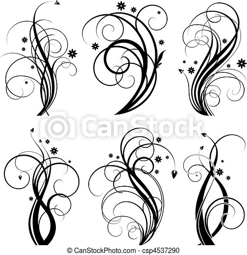 漩渦, 黑色, 設計 - csp4537290
