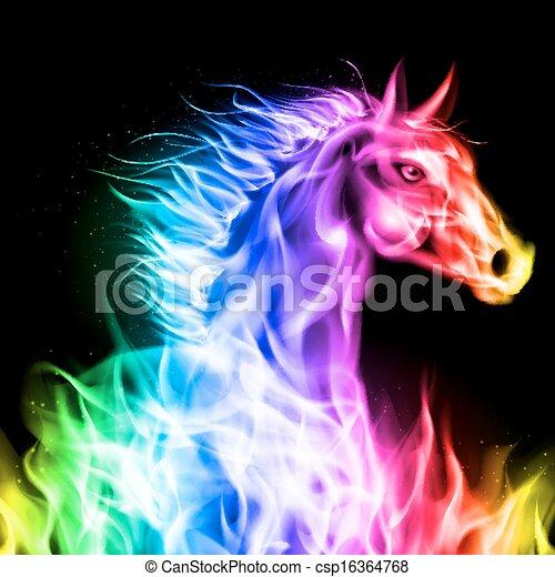 火, horse., 鮮艷 - csp16364768