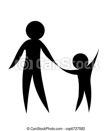 父母, 孩子 - csp6727582