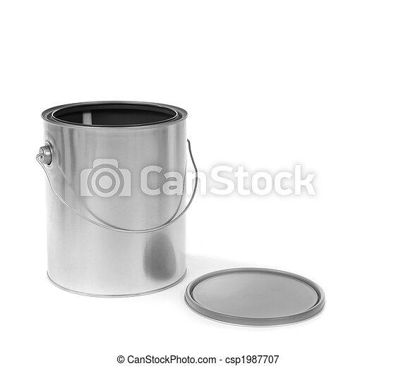 畫罐, 被開放能夠, 銀 - csp1987707