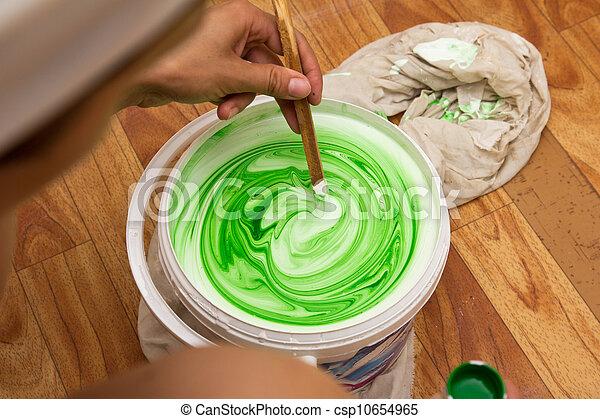 白色, 綠色, 乳膠 - csp10654965