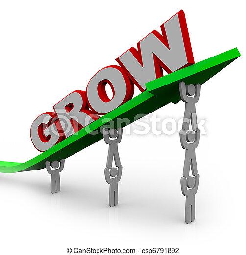 目標, 人們, 到達, -, 成長, 配合, 透過, 增長 - csp6791892