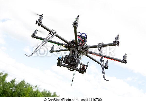 直升飛机, 攝影, multirotor - csp14410700