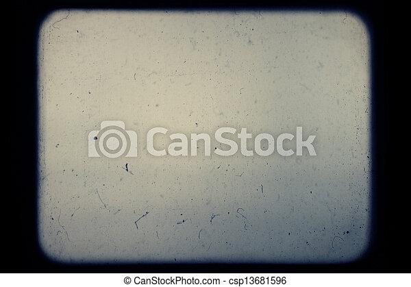 真正, 放映机屏幕, 滑動, 光學, 產生, dust. - csp13681596