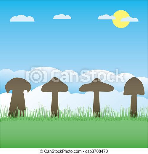 矢量, 彙整, 蘑菇 - csp3708470