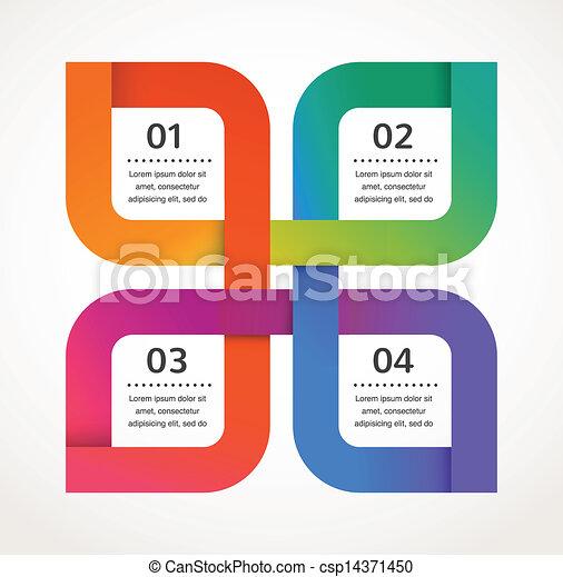 矢量, 摘要, infographics, 背景, 設計, 圖象 - csp14371450
