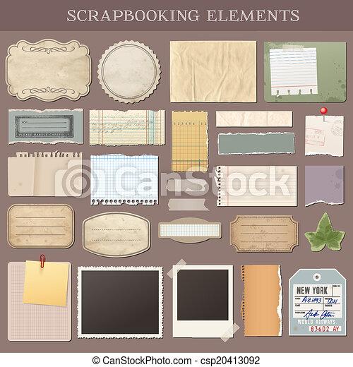 矢量, scrapbooking, 元素 - csp20413092
