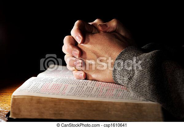 祈求手, 在上方, 聖經 - csp1610641