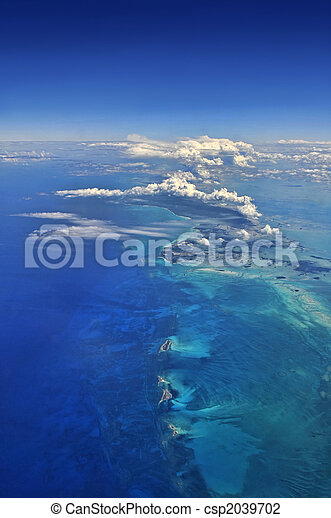 空中, 在上方, 加勒比海, 看法 - csp2039702
