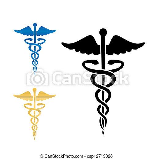 符號, 矢量, 醫學, illustration., caduceus - csp12713028