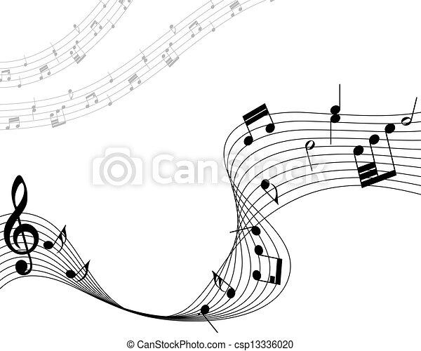 筆記, 音樂的人員 - csp13336020