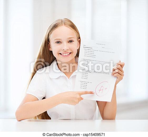 等級, 測試, 學校女孩 - csp15409571