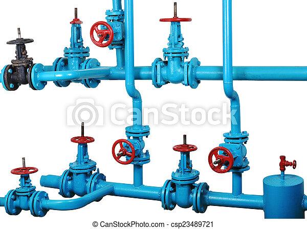 節點, 系統, 加熱, 水, 通訊, 技術 - csp23489721