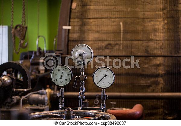 絞盤, 蒸汽, 授權, 葡萄酒, 採礦, engine. - csp38492037