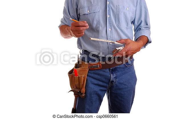 統治者, 木匠, 藏品, 鉛筆 - csp0660561